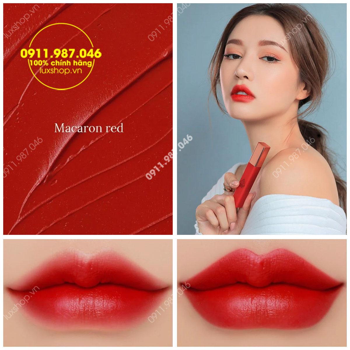 Son 3CE Kem Cloud Lip Tint Màu Macaron Red (Đỏ tươi)