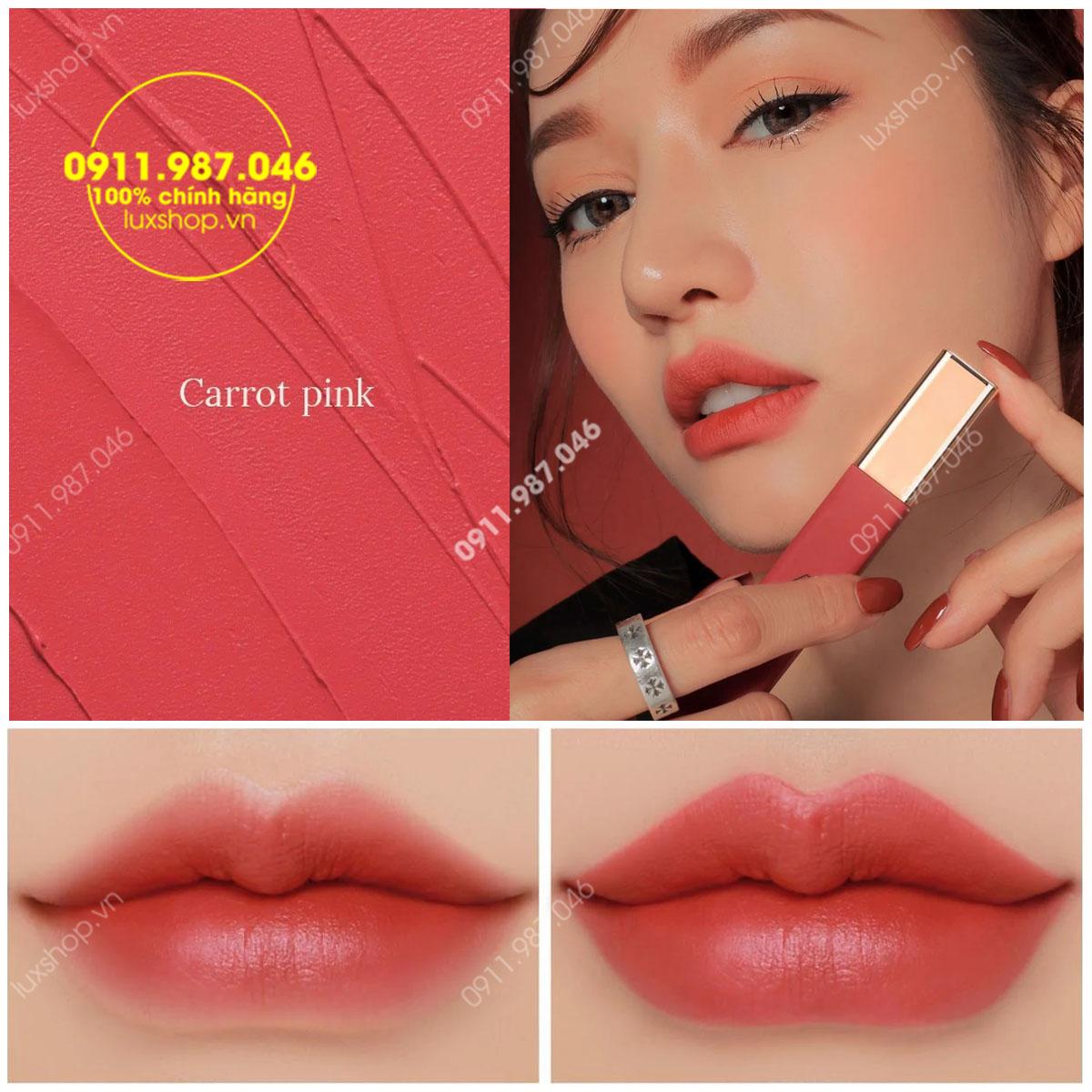 Son 3CE Kem Cloud Lip Tint Màu Carrot Pink (Vừa Ra Mắt)