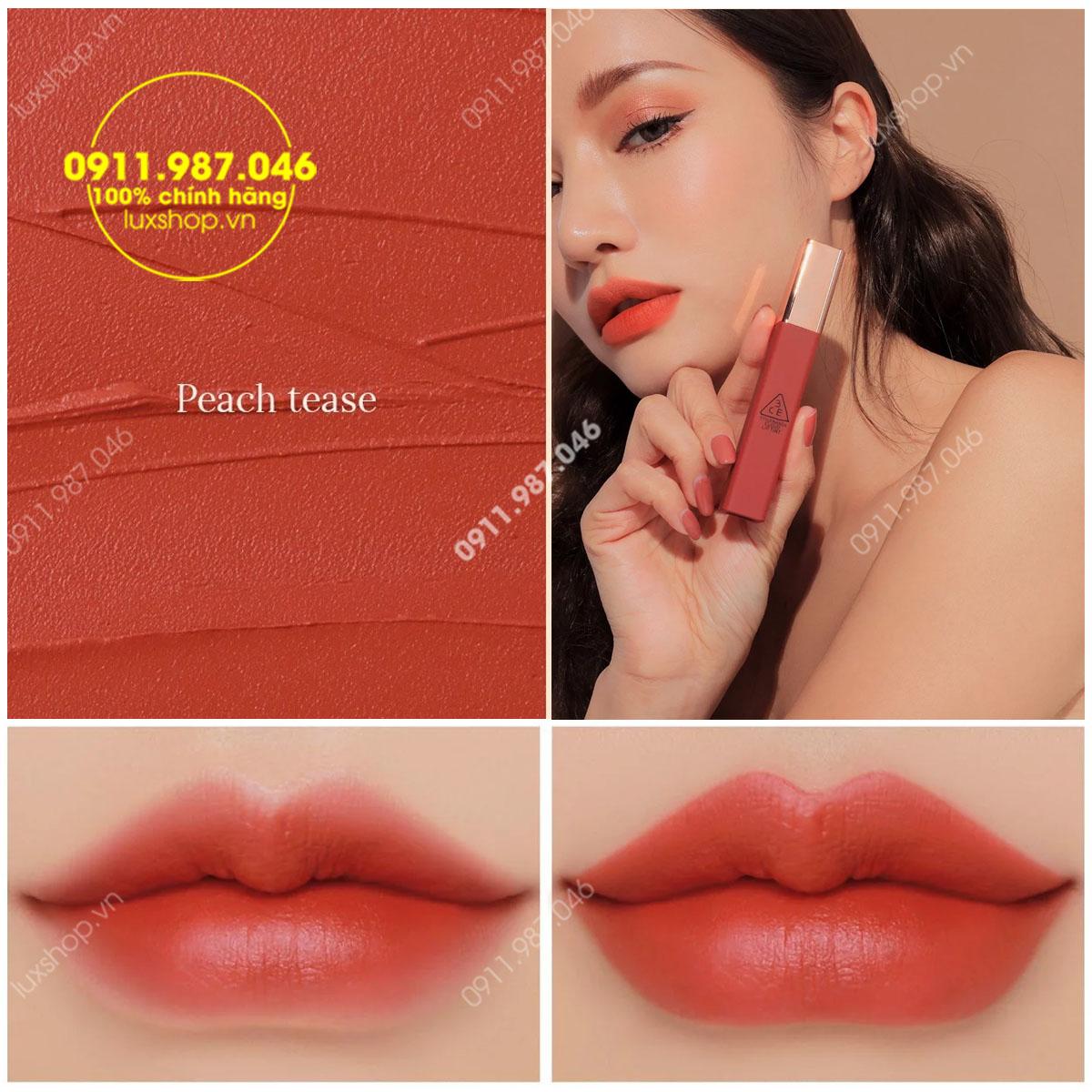 Son 3CE Kem Cloud Lip Tint Màu Peach Tease