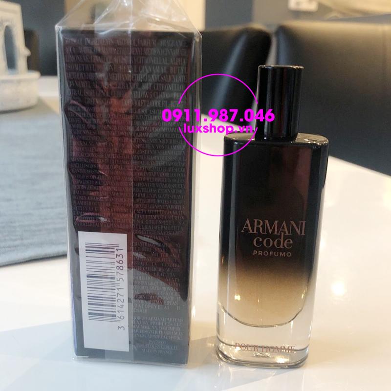 Nước hoa nam Giorgio Armani Code Profumo Parfum Pour Homme 15ml - luxshop.vn