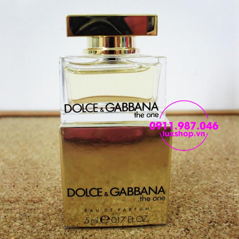 nước hoa nữ Dolce & Gabbana the one woman edp 5ml - luxshop.vn
