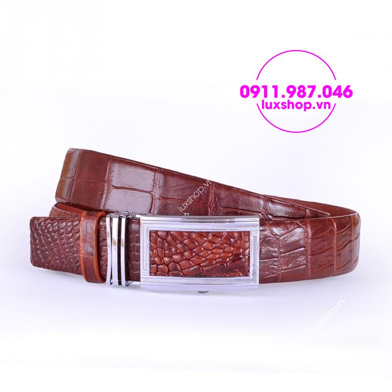 Thắt lưng dây nịt nam da cá sấu cao cấp - L0501