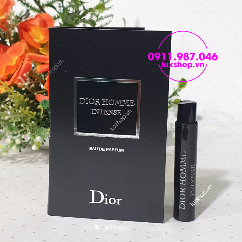 Vial nước hoa mini nam Dior Homme Intense edp 1ml - luxshop.vn