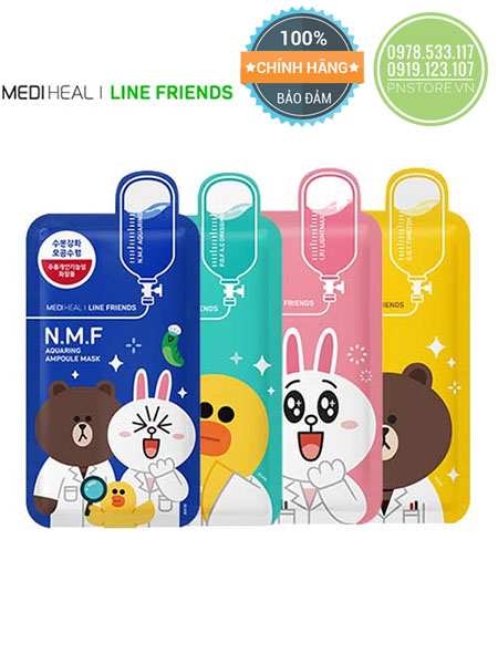 mat-na-giay-hinh-thu-mediheal-ampoule-mask-x-line-friends-chinh-hang-han-quoc