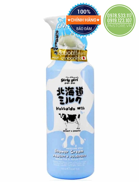 sua-tam-trang-da-girly-girl-hokkaido-milk-moisture-rich-shower-cream-700ml-chinh-hang-thai-lan