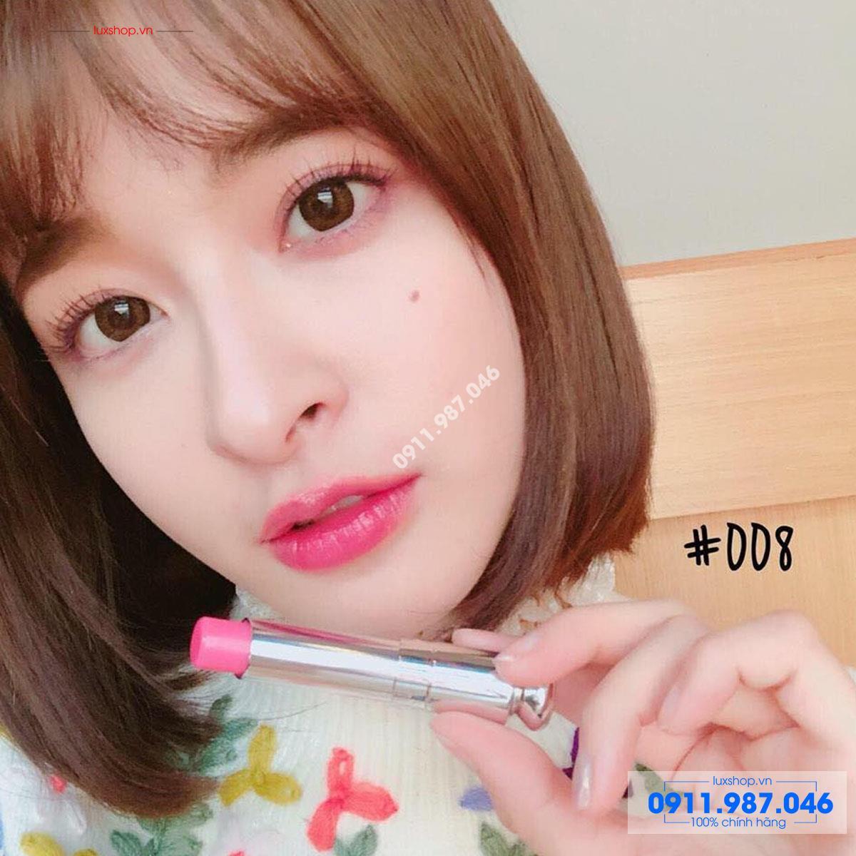 Son dưỡng môi Dior Addict Lip Glow 008 Ultra Pink 3.5g chính hãng Pháp