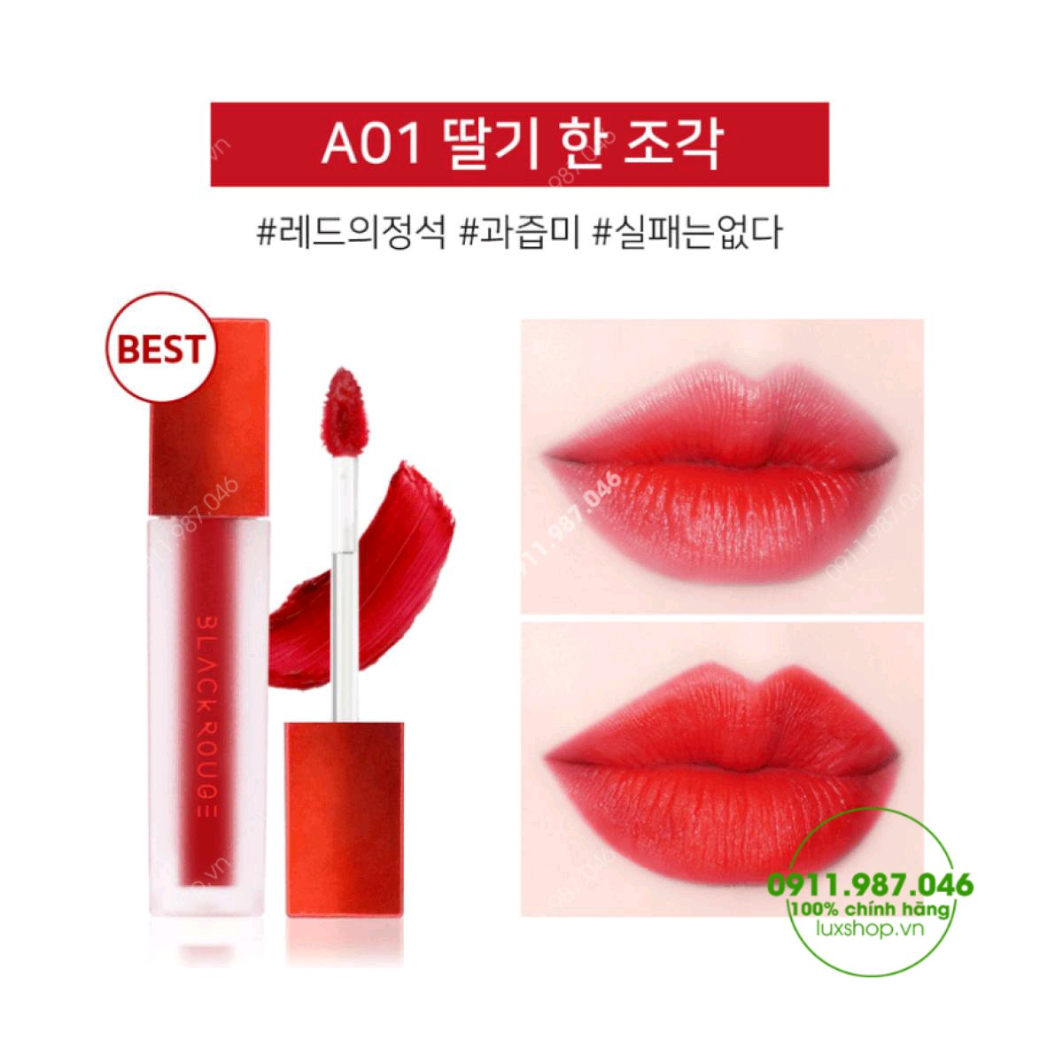 son-kem-li-black-rouge-a01-strawberry-red-do-dau-chinh-hang-han-quoc