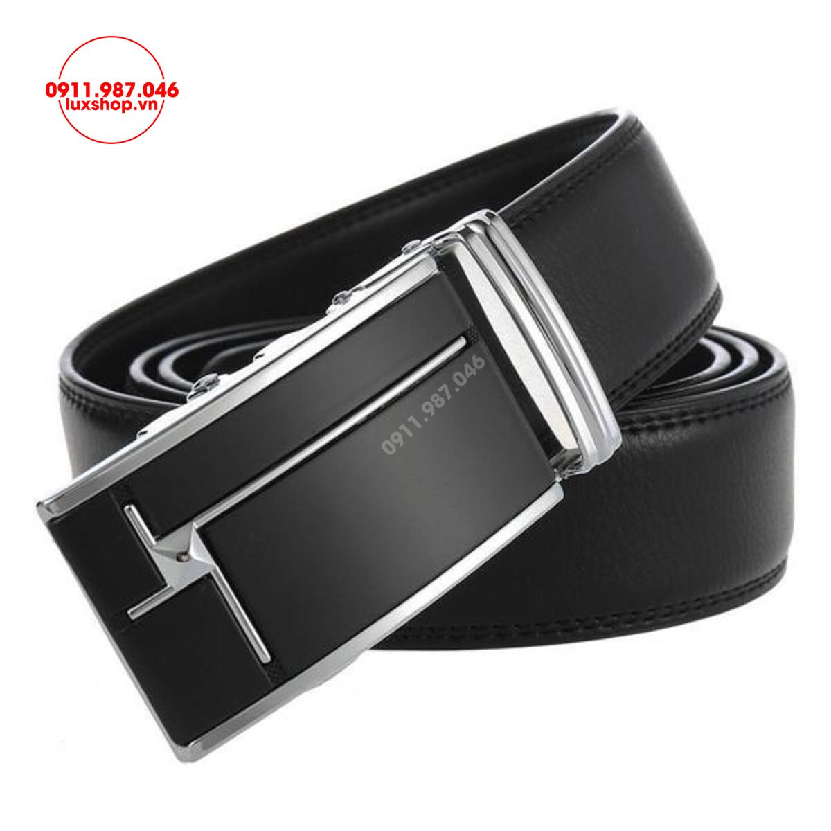 Thắt lưng nam da bò 2 lớp đầu khóa tự động hợp kim cao cấp (3.5cm x 115 - 125cm) - L101974