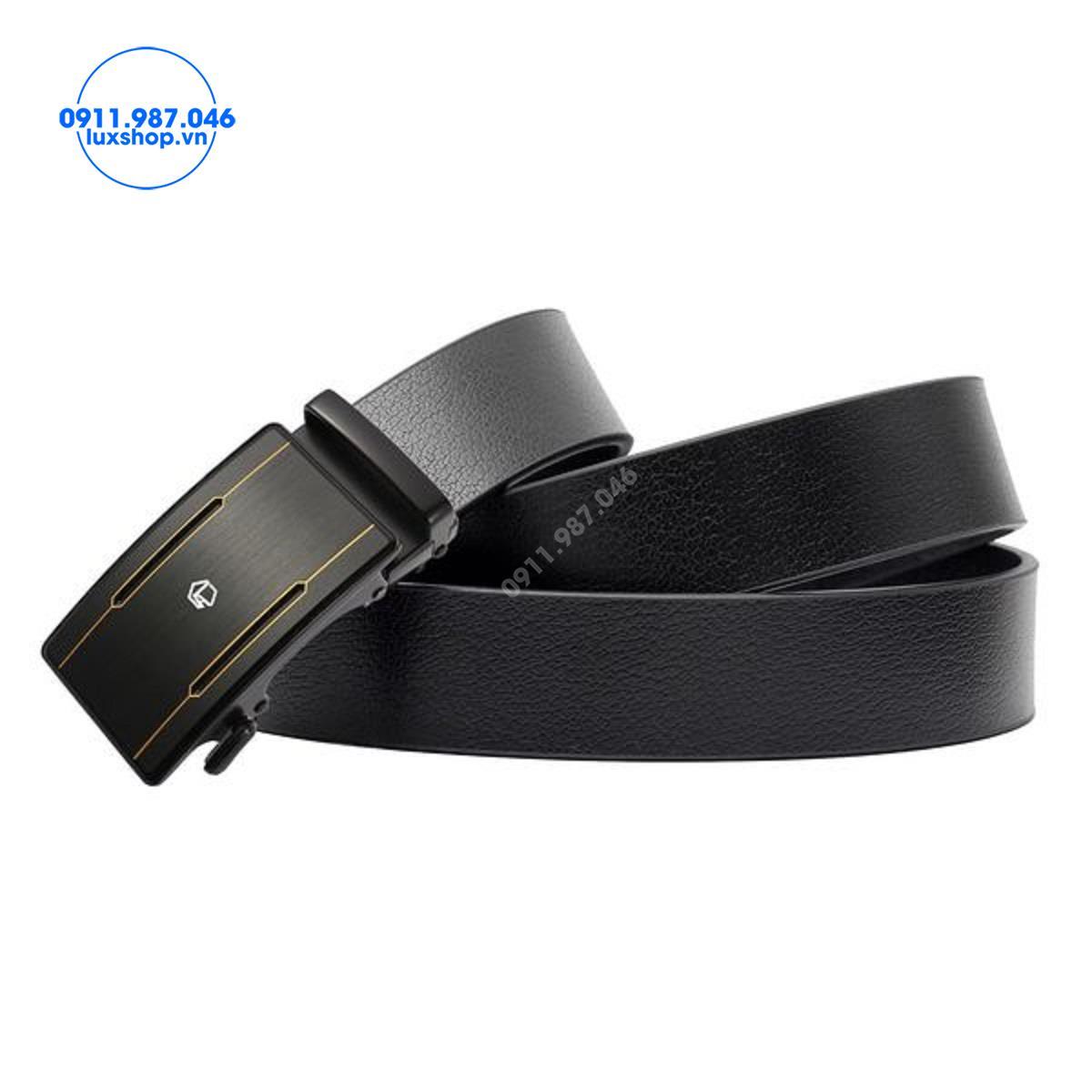 Thắt lưng nam da bò cao cấp đầu khóa tự động hợp kim không gỉ (3.5cm) - LM417