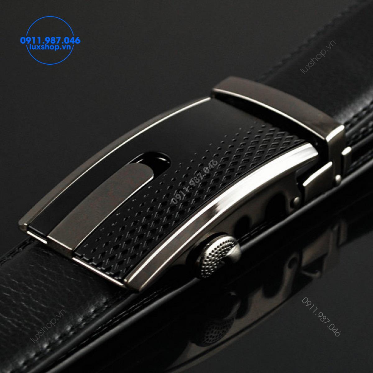 Thắt lưng nam da bò cao cấp đầu khóa tự động hợp kim không gỉ (4cm) - LP116
