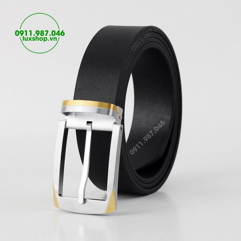 Thắt lưng nam da bò đầu khóa kim thép trắng cao cấp (3.5cm x 115 - 125cm) - L101968