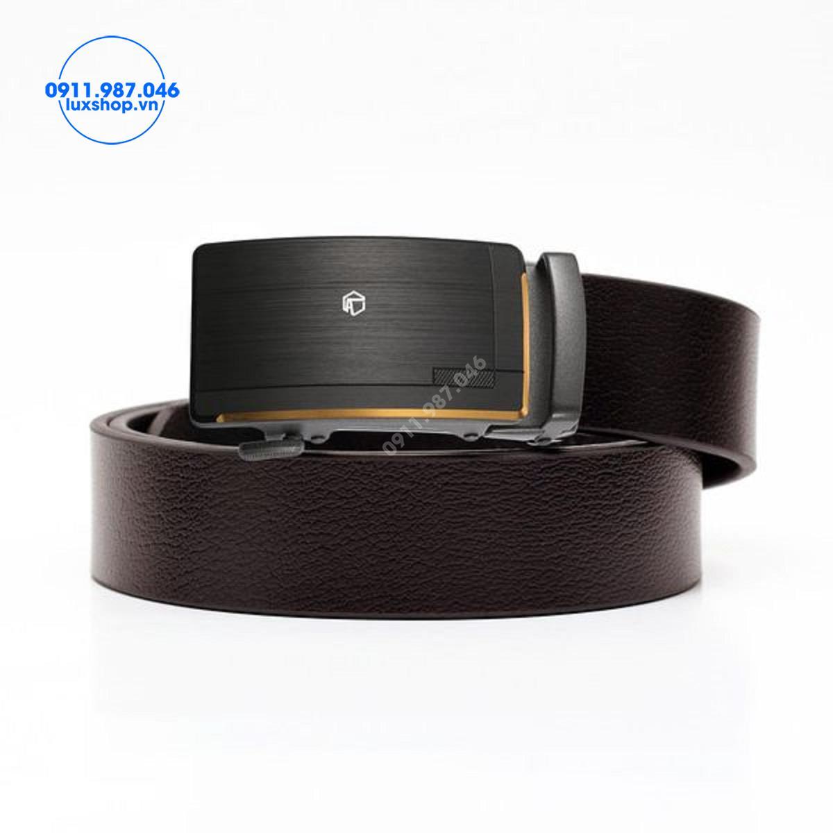 Thắt lưng nam da bò nguyên miếng đầu hợp kim khóa tự động (3.5cm) - LM416
