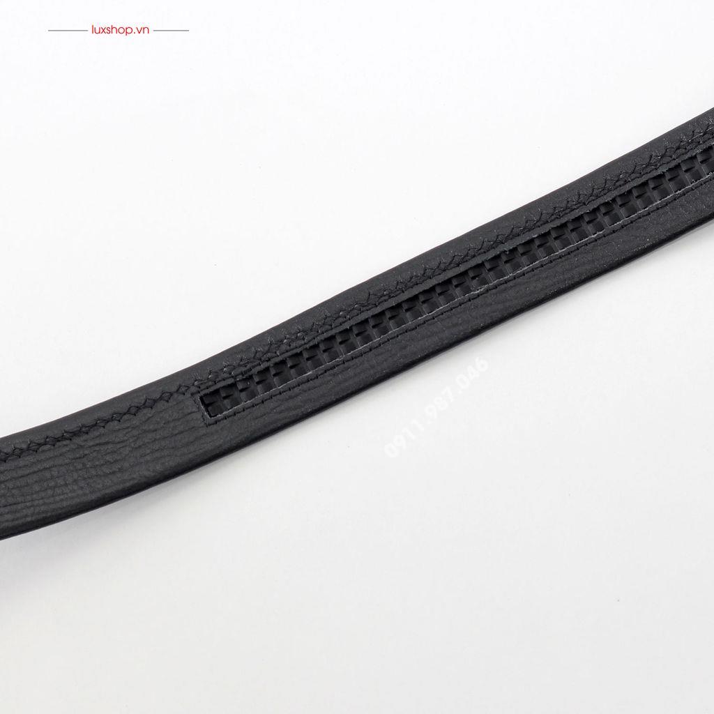 Thắt lưng nam da bò Ý nhập khẩu đầu hợp kim (3.5cm x 125cm) - L101965