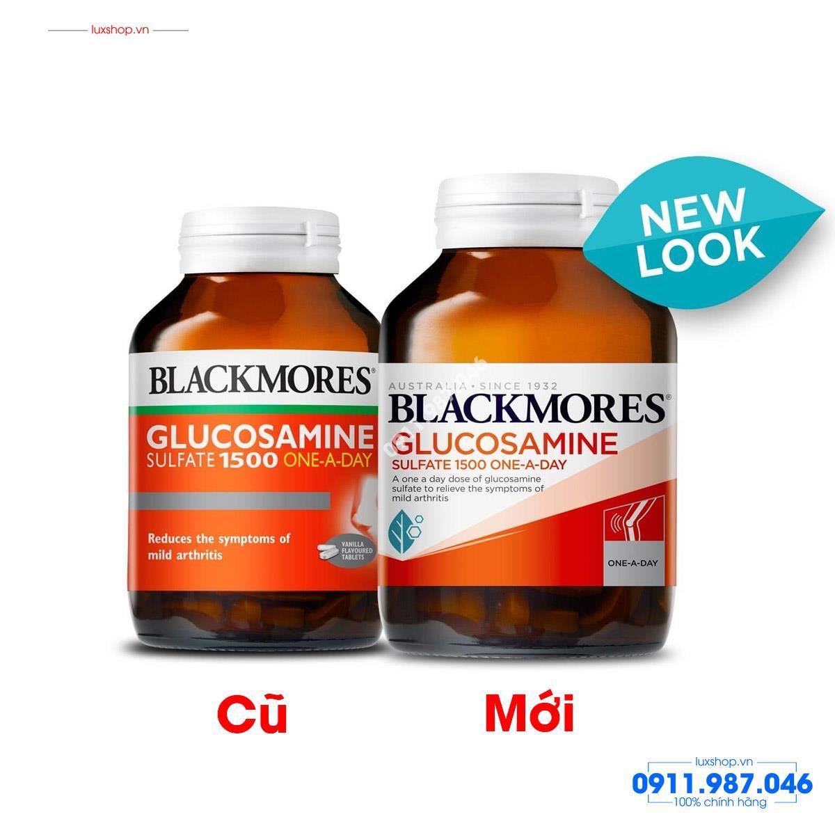 Thực phẩm chức năng Blackmores Glucosamine 1500 One-A-Day mẫu mới 180 viên chính hãng (Úc) - L101962