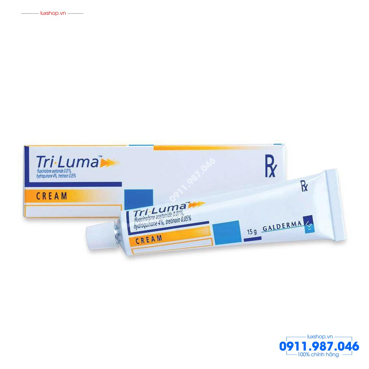 Thuốc Galderma Tri Luma Cream 15g trị thâm nám đốm nâu chính hãng (Mỹ)
