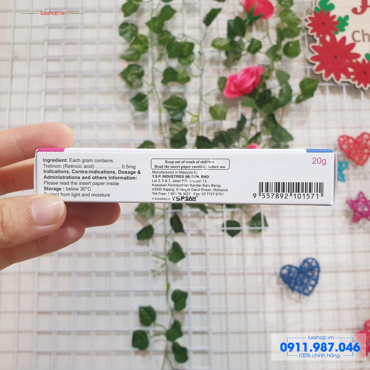 Thuốc trị mụn YSP Tretinon 0,05% 20g chính hãng (Malaysia)